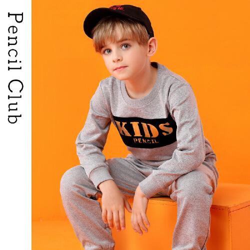 pencilclub 铅笔俱乐部 男童休闲长袖卫衣