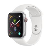 Apple 苹果 Apple Watch Series 4 智能手表 (银色铝金属、GPS+蜂窝网络、44mm、白色运动表带)