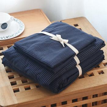 J.H.Longess 原棉织布全棉棉刺子四件套 床笠款 1.8米床(被套200*230cm)