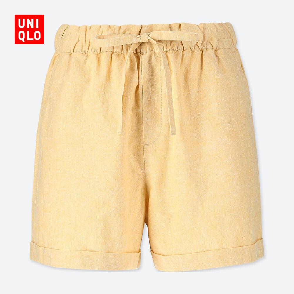UNIQLO 优衣库 404700 女士棉麻短裤