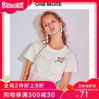 ONE MORE 11CA826418 女款刺绣T恤