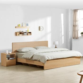 M&Z 掌上明珠家居 BS100 北欧现代板式床 1.8m