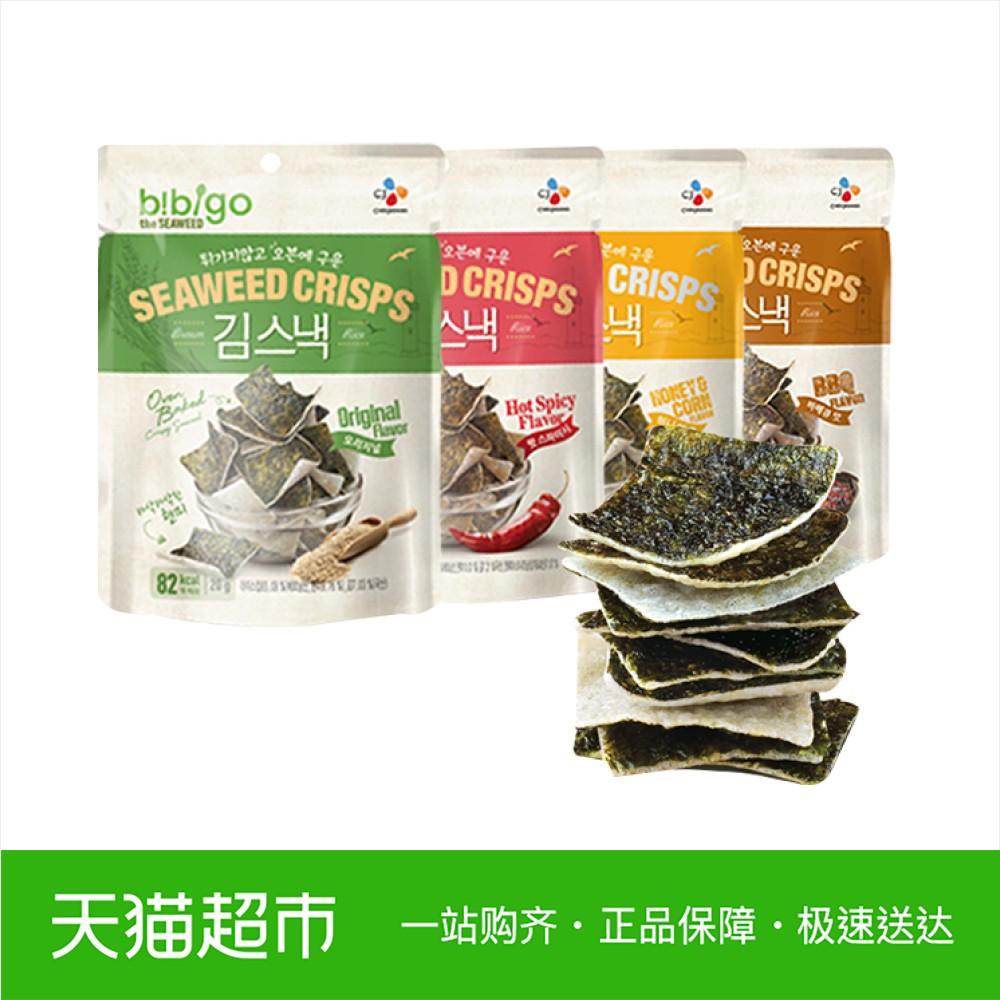 bibigo 必品阁 海苔米饼脆片 20g*4袋