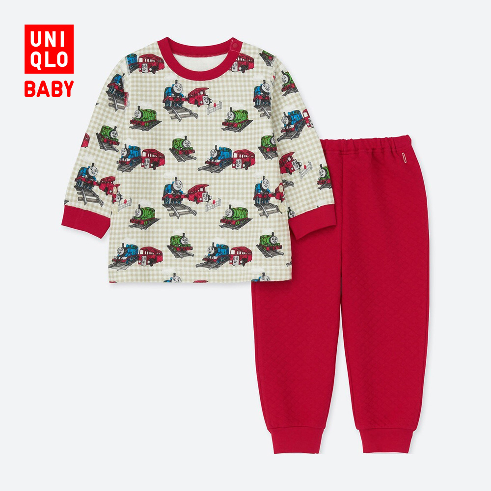 UNIQLO 优衣库 403693 婴幼儿压线睡衣套装