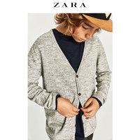 ZARA  男童纯色纽扣针织开衫