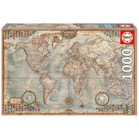 EDUCA 古世界地图图案 高品质进口拼图 1000片