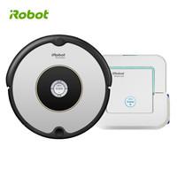 iRobot Roomba 601+Braava Jet 241 擦扫机器人2件套