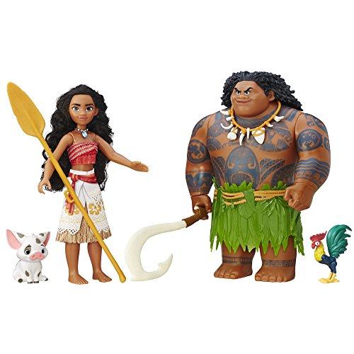 Disney 迪士尼 海洋奇缘 莫阿娜+毛伊人物 玩偶组合