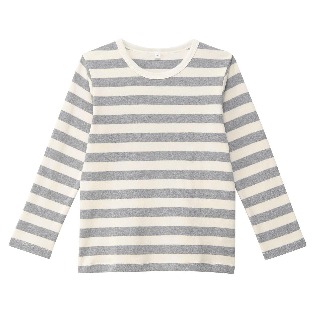 MUJI 无印良品 幼儿长袖T恤 110cm 灰色