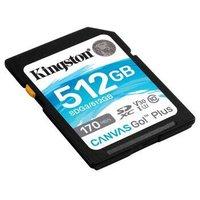 金士顿(Kingston)512GB U3 V30 内存卡 SD存储卡 极速版 读速170MB/s 写速90MB/s 4K超高清视频 终身保固