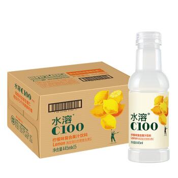 农夫山泉 水溶C100柠檬味 复合果汁饮料  445ml*15瓶