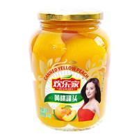 欢乐家 糖水黄桃罐头 新鲜水果罐头900g 休闲零食 方便速食