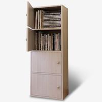 雅美乐 四层带门收纳柜 质感松木色 Y492