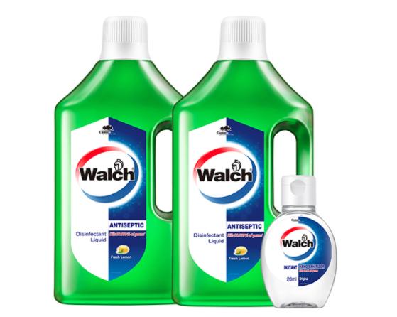 Walch 威露士 家居消毒液1L*2+免洗洗手液20ml