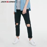 JACK JONES 杰克琼斯 219132592 破洞修身牛仔裤