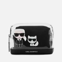 银联专享:Karl Lagerfeld 卡尔.拉格斐 K/Ikonik 老佛爷与爱猫卡通图案钱包