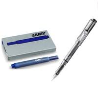 LAMY 凌美 Vista自信系列 透明时尚钢笔 F尖+5支墨水胆