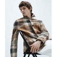 ZARA 03057350704 男款羊毛混纺衬衫外套
