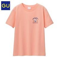 GU 极优 322455 凯蒂猫合作款 女士短袖