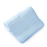 Purcotton 全棉时代 婴儿纱布浴巾  1条/盒 蓝色 115*115cm *2件