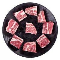 限河南:天谱乐食 牛带骨肋排肉段 600g*5 + 澳洲M3 日式腹肉雪花原切牛排 200g/袋*5