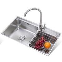 ARROW 箭牌卫浴 AE553211 304 不锈钢水槽双槽套餐 (不含龙头)