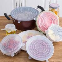 虔生缘 食品级硅胶保鲜盖碗盖 6件套