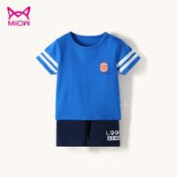 猫人 儿童短袖T恤套装 多色可选