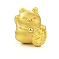 周生生 Charme串珠系列 89164C 招财猫转运珠 1.5g