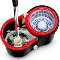 移动专享: Vieruodis 拖把旋转拖把桶 黑色桶+加强杆+塑料篮+塑料盘+1头