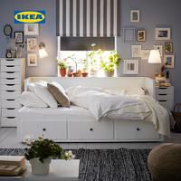 限地区:IKEA 宜家 汉尼斯 坐卧两用床框架 带3屉