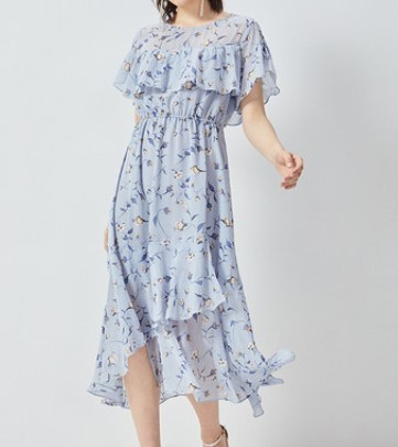 minette  30219143037 雪纺甜美碎花气质连衣裙