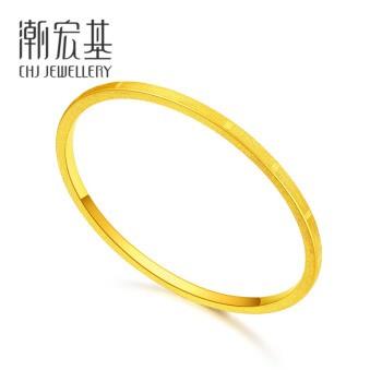CHJ JEWELLERY 潮宏基  忆恋 黄金手镯女款 约12.55g