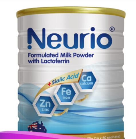 neurio 紐瑞優 乳鐵蛋白調制乳粉 DHA鈣鐵鋅加強版