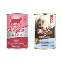 Morand 茉兰朵 意大利进口火腿猫罐头400g 三文鱼明虾味 *21件