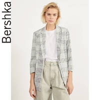 Bershka 00975085811 女士卷袖修身西装外套