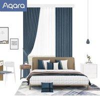 Aqara 智能窗帘电机开合帘版成品帘套装