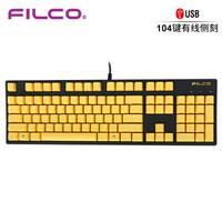 FILCO 斐尔可 忍者圣手二代 机械键盘 侧刻 金色限量版 Cherry轴