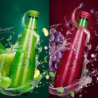 可口可乐 新品含气红葡萄汁苹果汁 2瓶
