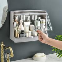旺家星强力无痕免打孔浴室置物架 厨房厕所卫生间收纳架多功能收纳盒