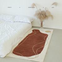 青山美宿 地毯 赭石红  0.8*1.8m