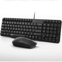 Rapoo 雷柏 K120 键盘鼠标套装 有线USB