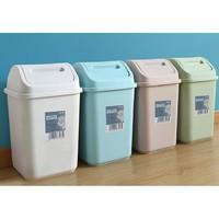 云立洁 带盖大号垃圾桶 10L 颜色随机