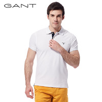 GANT 甘特 252105 男士纯色polo短袖T 恤