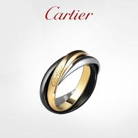 Cartier 卡地亚 Trinity系列 黄金白金陶瓷戒指