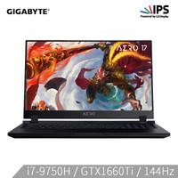 GIGABYTE 技嘉 Aero17-SA 17.3英寸轻薄游戏本 (i7-9750H、256GB SSD、8GB、GTX1660Ti)
