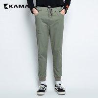KAMA 卡玛 2318311 男士松紧针织长裤 *2件