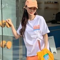 韩都衣舍 OM80785 韩版字母印花短袖T恤