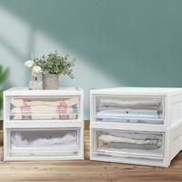 爱丽思IRIS 抽屉整理箱 收纳箱 储物箱 BC500S透白 4只装