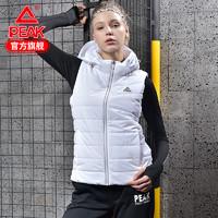 匹克棉馬甲女秋冬季新款可脫卸帽保暖輕便綜合訓練運動上衣女